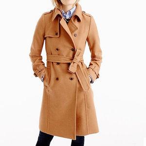 J. Crew Icon trench coat Italian wool cashmere